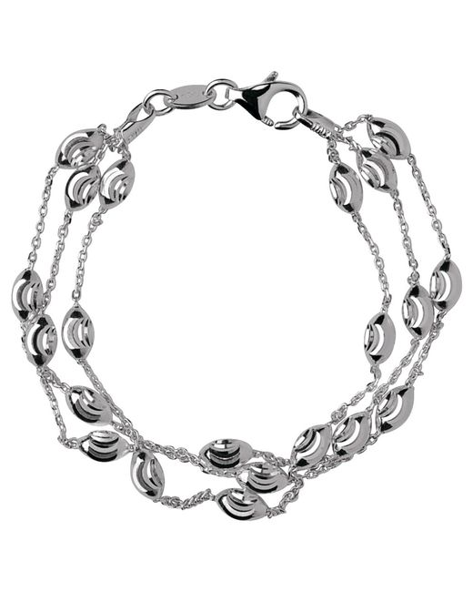 Links of London | Metallic Essentials Sterling Silver Beaded Chain 3 Row Bracelet | Lyst