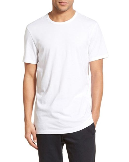 Vince Longline Pima Cotton T Shirt In White For Men Optic