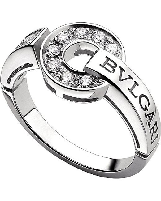 BVLGARI | Metallic - 18kt White-gold And Diamond Ring | Lyst