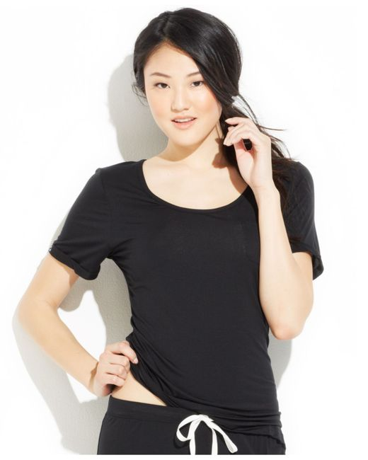Tommy Hilfiger | Black Pocket Modal Top | Lyst