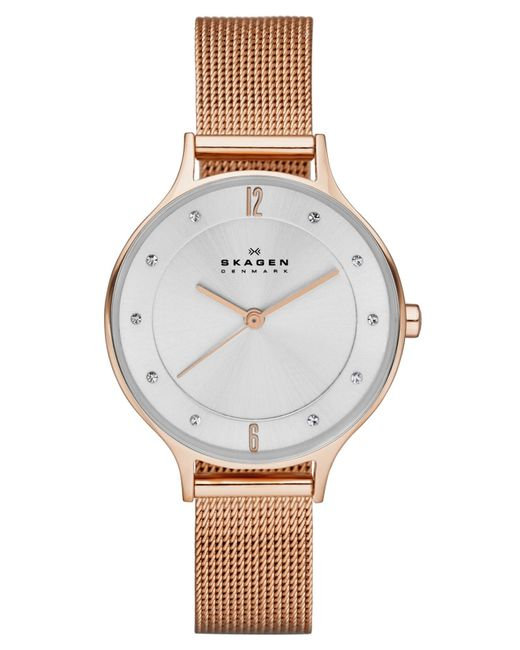 Rose Goldtone Mesh Round Bracelet Watch - Women