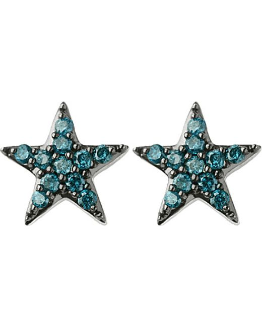 Links of London | Metallic Diamond Essentials Sterling Silver And Diamond Star Earrings | Lyst
