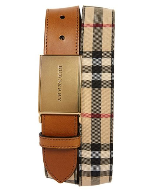 Burberry | Brown 'charles' Belt for Men | Lyst