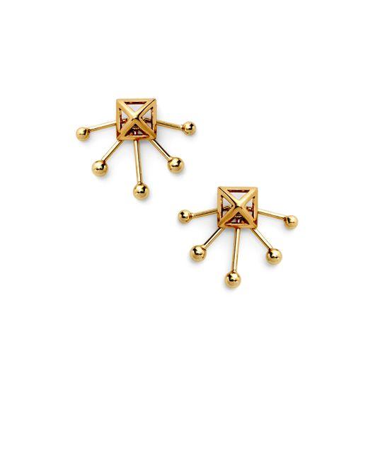 Rebecca Minkoff | Metallic Pyramid Fan Stud Earring | Lyst