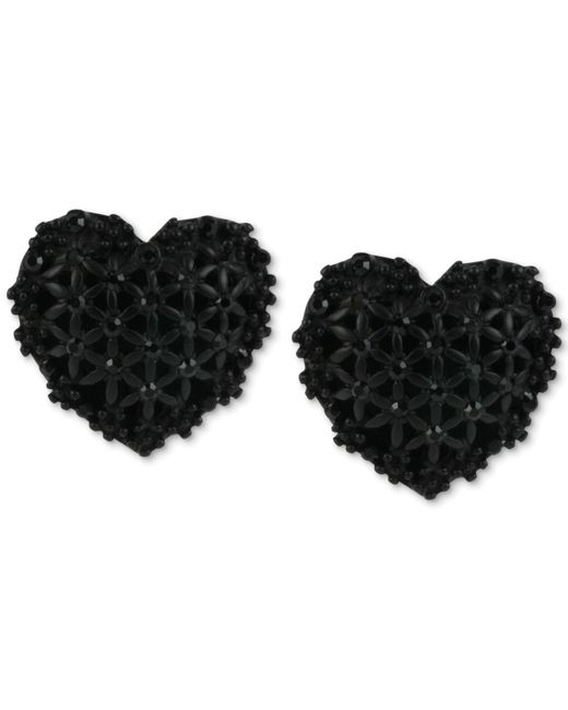 Betsey Johnson | Black Ball Front & Back Earrings | Lyst