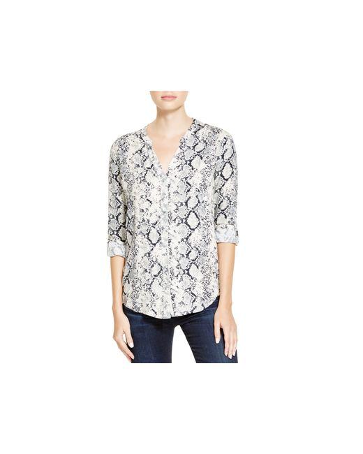 Soft Joie   White Dane Snakeskin Print Shirt   Lyst