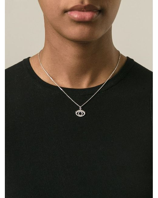 KENZO | Metallic Small 'eye' Necklace | Lyst