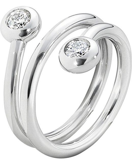 Georg Jensen | Aurora 18ct White-gold And Diamond Ring | Lyst
