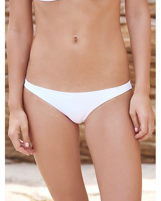Free People | White Simply Triangle Top Solid Tie Side Bottoms | Lyst