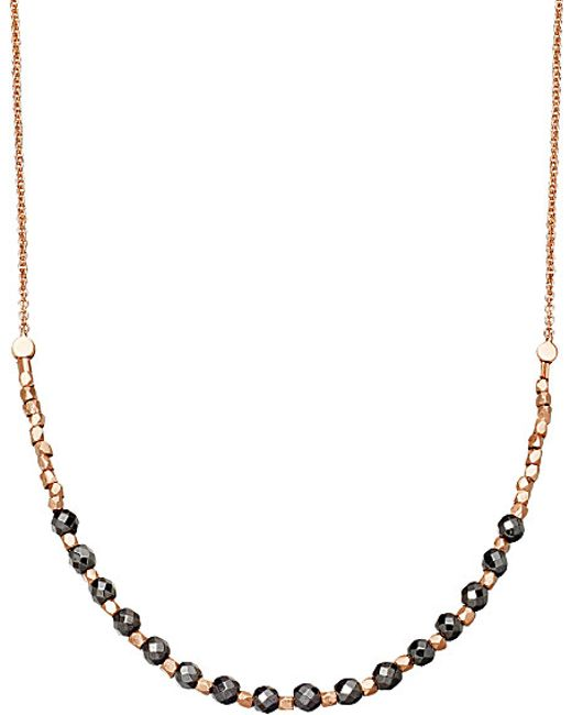 Astley Clarke   Metallic Hematite Detail 18ct Rose Gold-plated Necklace   Lyst