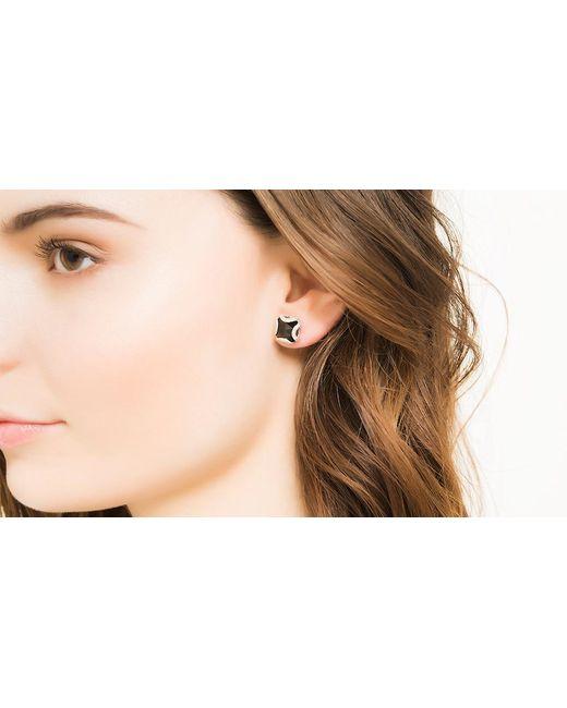 John Hardy | Classic Chain Stud Earring, Black Chalcedony And Diamonds | Lyst