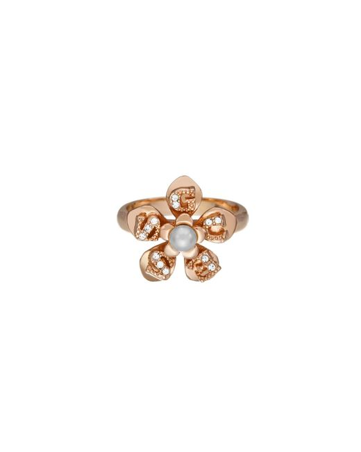 Guess | Pink Icy Flower Rings | Lyst
