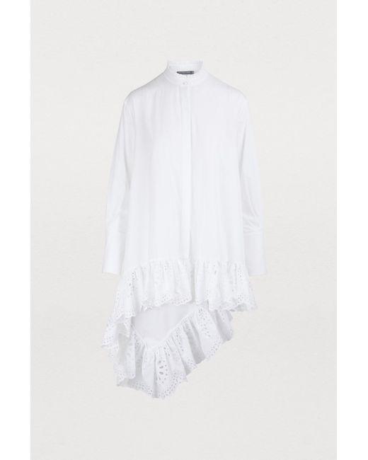Alexander McQueen - White Asymmetrical Shirt - Lyst