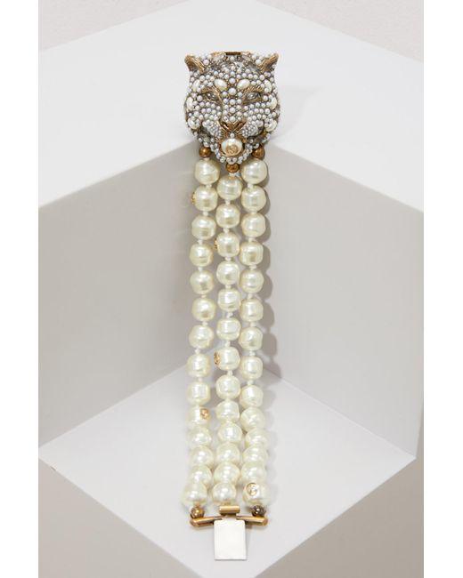 Gucci - Multicolor Pearl Bracelet - Lyst