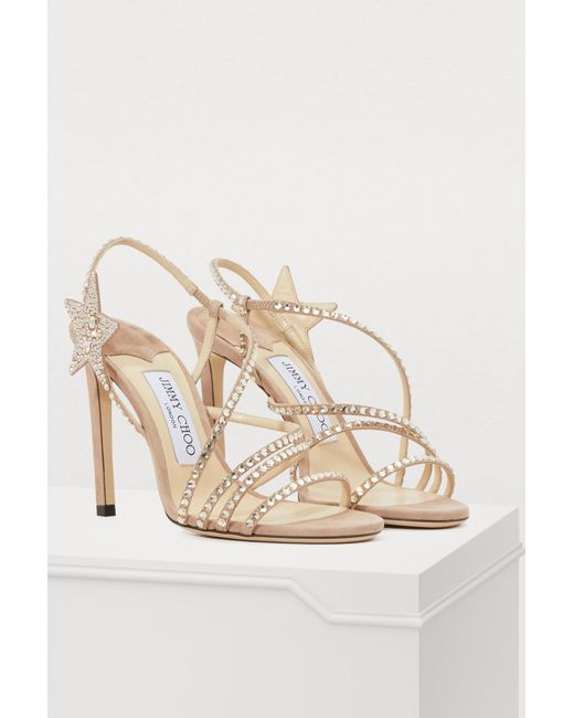 4f971baa7fc3 ... Jimmy Choo - Multicolor Lynn 100 Sandals - Lyst ...