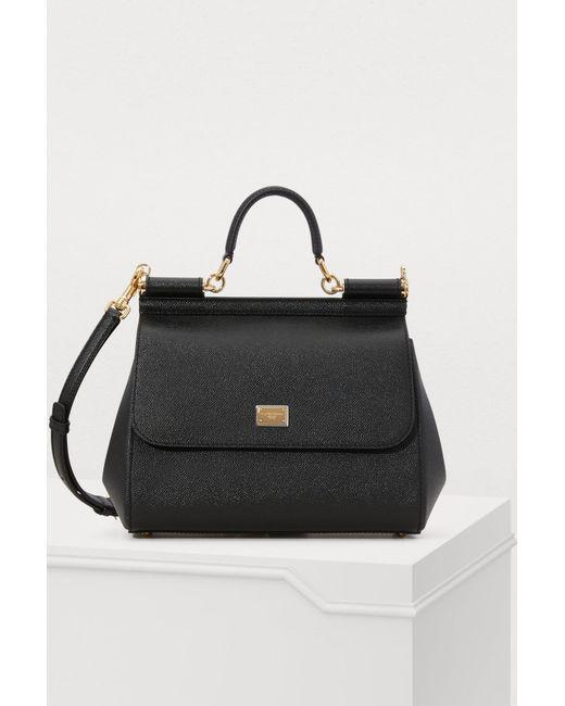 c0fafd4c604b Dolce   Gabbana - Black Sicily Mm Bag - Lyst ...