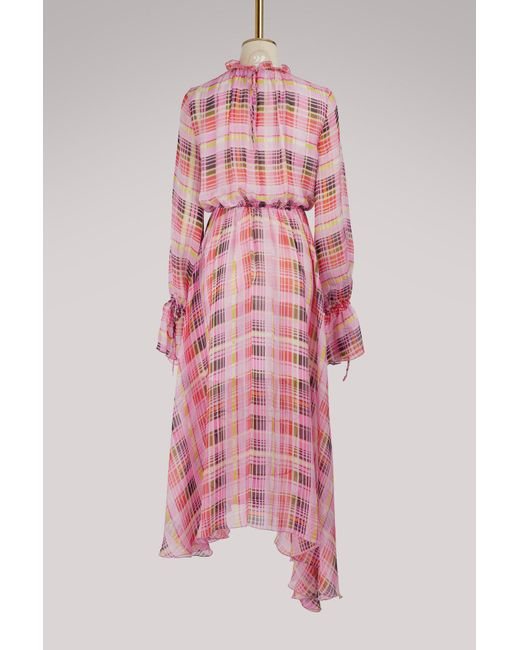 Long checkered dress Msgm 3etrglT