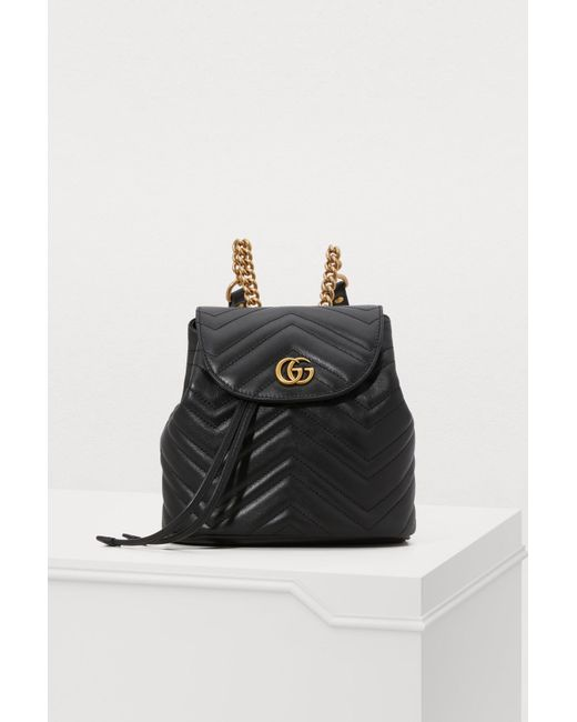 30a492515930 Gucci - Black GG Marmont Small Backpack - Lyst ...