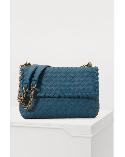 f27e890891 Bottega Veneta - Blue Small Olimpia Bag - Lyst ...