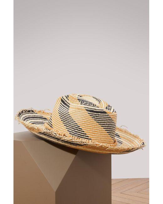 Sensi Studio - Natural Panama Hat With Tagua Beads - Lyst