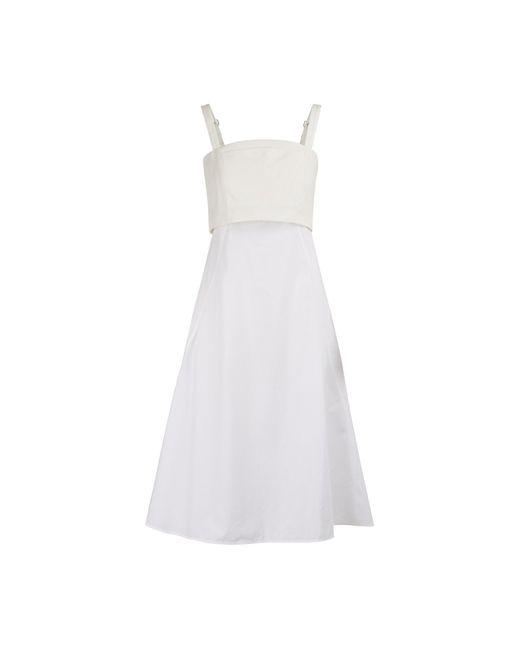 Proenza Schouler White Poplin Midi Dress