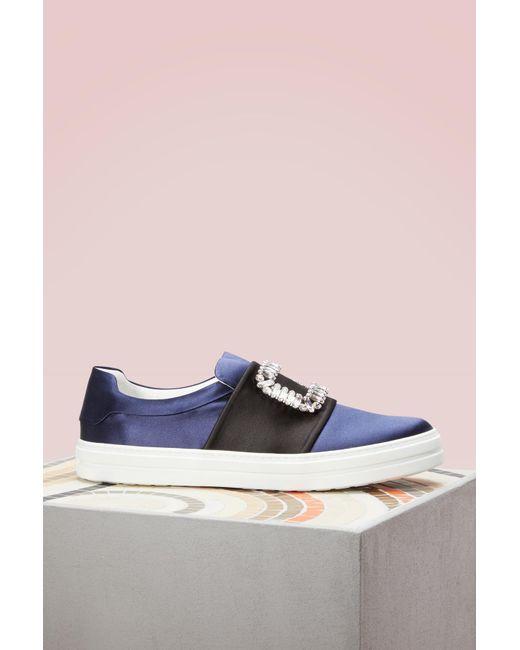 Roger Vivier - Blue Viv Strass Sneakers - Lyst