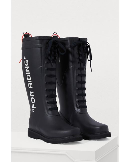 6b8a8fd12a ... Off-White c/o Virgil Abloh - Black For Riding Boots - Lyst ...