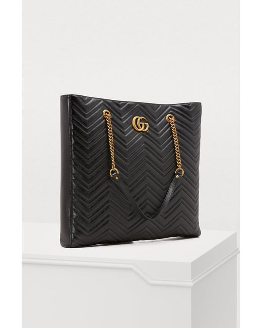 6d515d966 Gucci GG Marmont Gm Tote in Black - Save 3% - Lyst