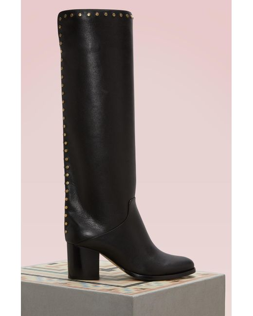 Jimmy Choo - Black Monroe 65 Leather Boots - Lyst