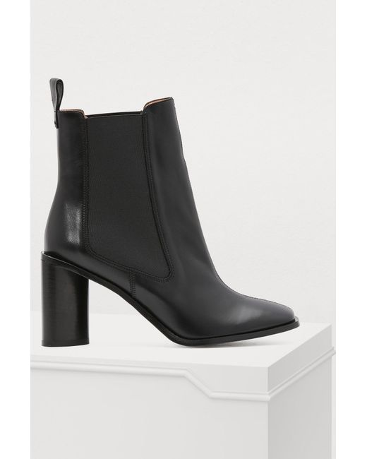 fd09faff9bd6 Acne Studios Heeled Ankle Boots in Black - Lyst