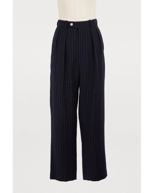 Roseanna - Blue Andrea Linen And Wool Pants - Lyst