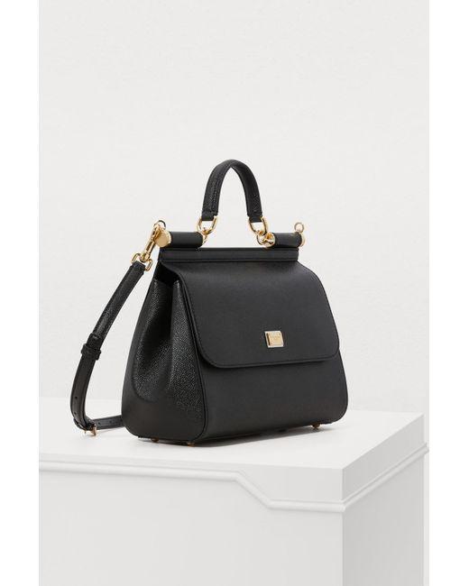e5ab71eb83eb ... Lyst Dolce   Gabbana - Black Sicily Mm Bag ...