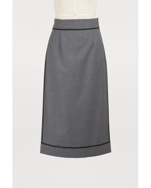 Gauchère - Gray Marilyn Wool Skirt - Lyst