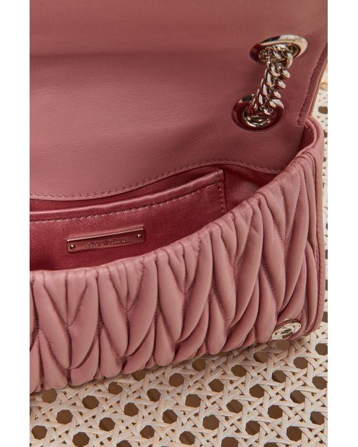 4738032dd4e4 ... Miu Miu - Pink Club Matelassé Bag - Lyst ...