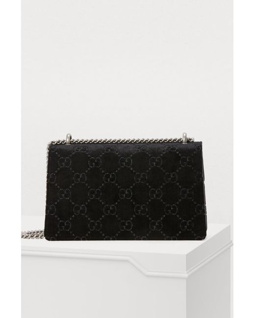 8a419db09a92 Gucci Dionysus GG Velvet Mm Crossbody Bag in Black - Save 6% - Lyst