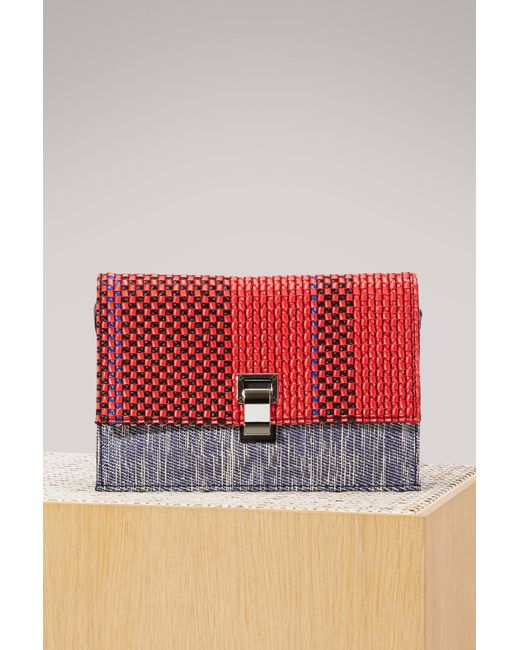 Proenza Schouler - Red Small Woven Lunch Bag - Lyst