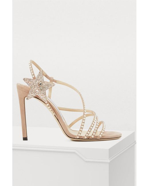 2be6dae2d47489 Jimmy Choo - Multicolor Lynn 100 Sandals - Lyst ...