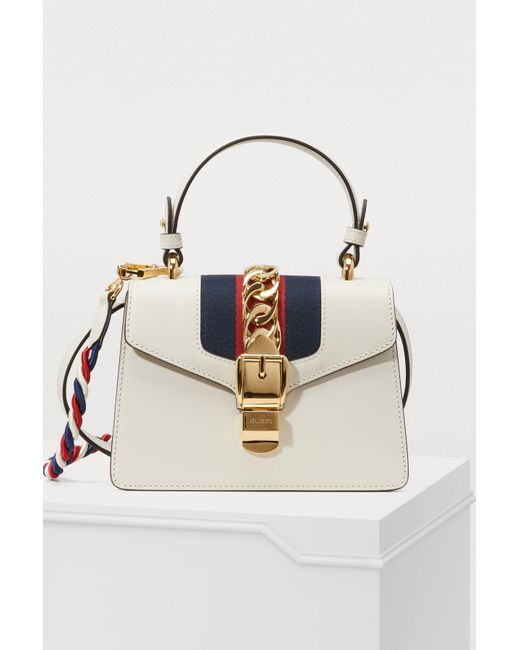 8a6b3f2f2 Gucci - White Sylvie Mini Cream Cross-body Bag - Lyst ...