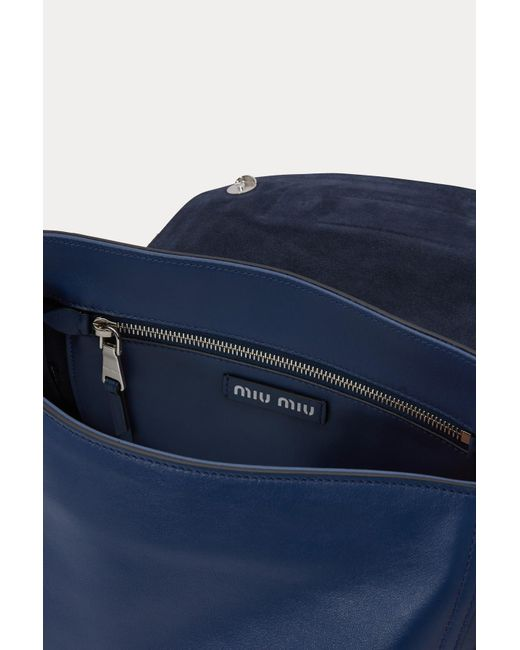 ... Miu Miu - Blue Grace Lux Gm Shoulder Bag - Lyst ... 3b700285a2ef3