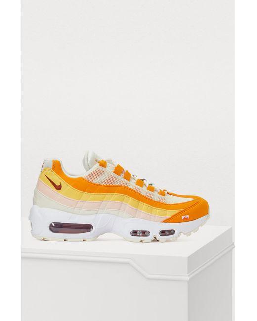 99b82937e3 Nike Air Max 95 Sneakers in Orange - Save 14% - Lyst