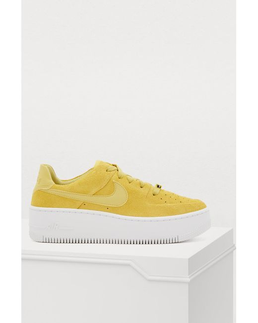 a638959d6043 Nike - Yellow Af1 Sage Low Sneakers - Lyst ...