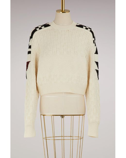 Isabel Marant - Natural Cotton And Wool Laytonn Sweater - Lyst