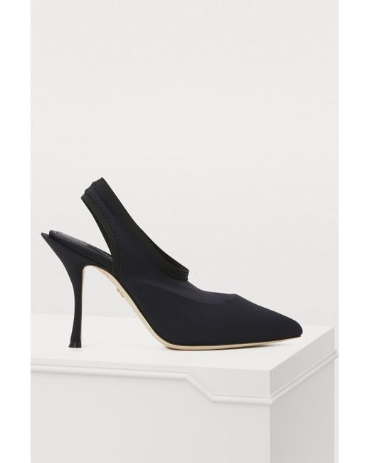 3a41dde5b0eb Dolce   Gabbana - Black Slingback Pumps - Lyst ...