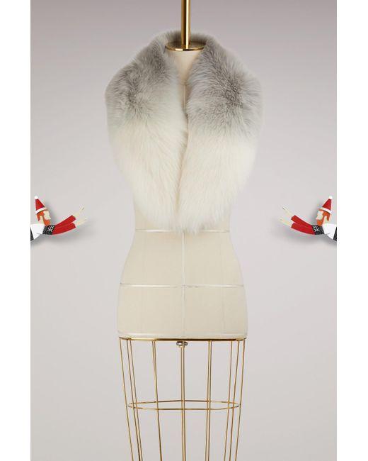 Yves Salomon | White Fur Scarf | Lyst
