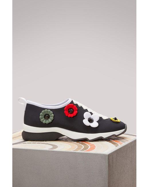 Fendi   Multicolor Flower Sneakers   Lyst