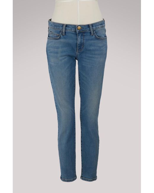 Current/Elliott - Blue The Easy Stiletto Jean - Lyst