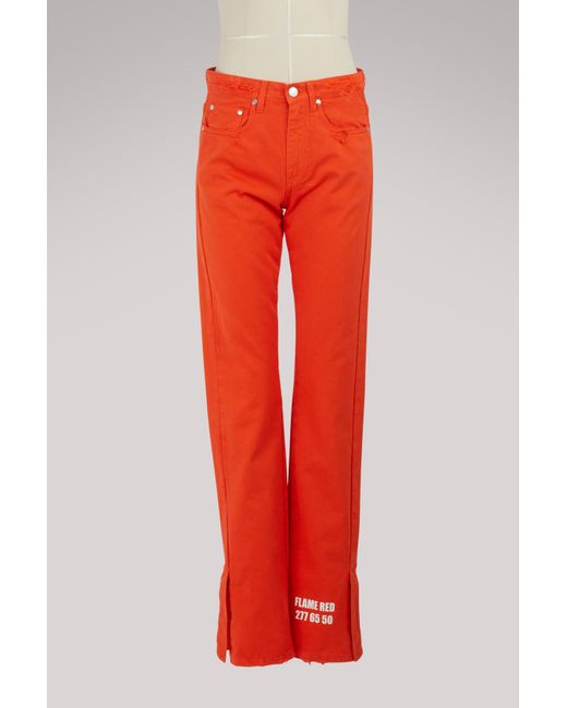 MSGM - Red Pantone Pants - Lyst