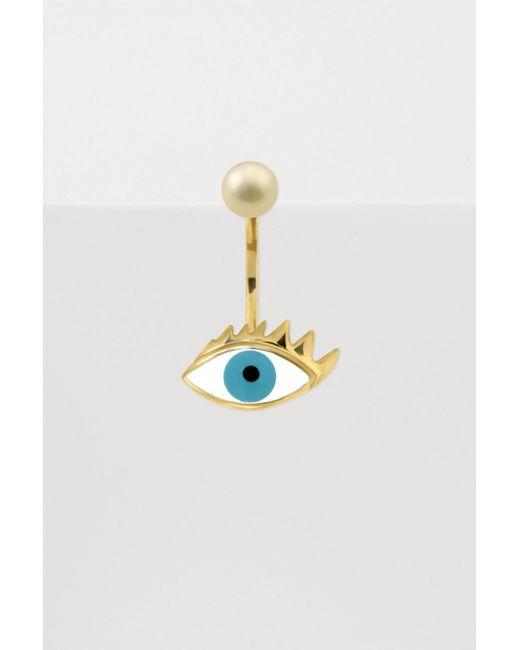 Delfina Delettrez - Multicolor Eye Piercing Single Earring - Lyst