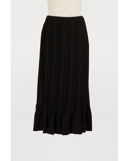 Marco De Vincenzo - Black Pleated Midi Skirt - Lyst