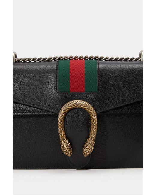 aeb918989df9 Gucci Dionysus Leather Shoulder Bag in Black - Save 6% - Lyst